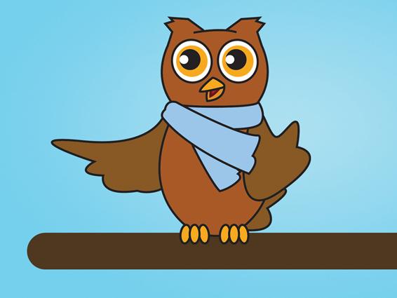 Simon the Owl - mascot Illustration