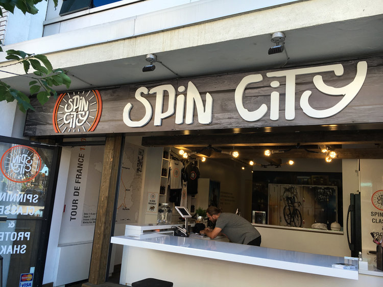 spin city branding - Logo, apparel, marketing materials and general branding for a spin cycle studio.