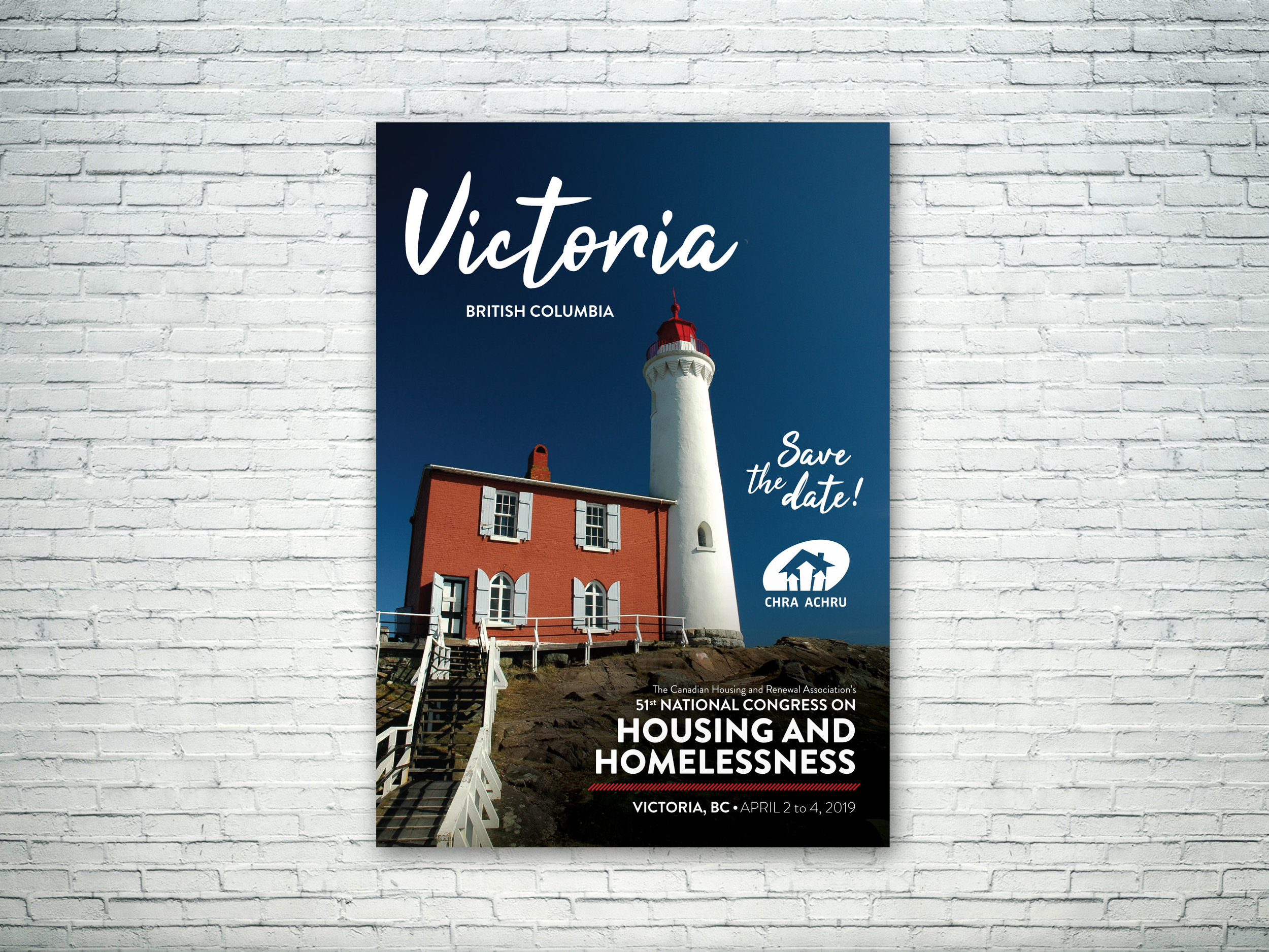 CHRA Congress Branding - Branding for The Canadian Housing and Renewal Association's 2019 annual congress in Victoria, BC.