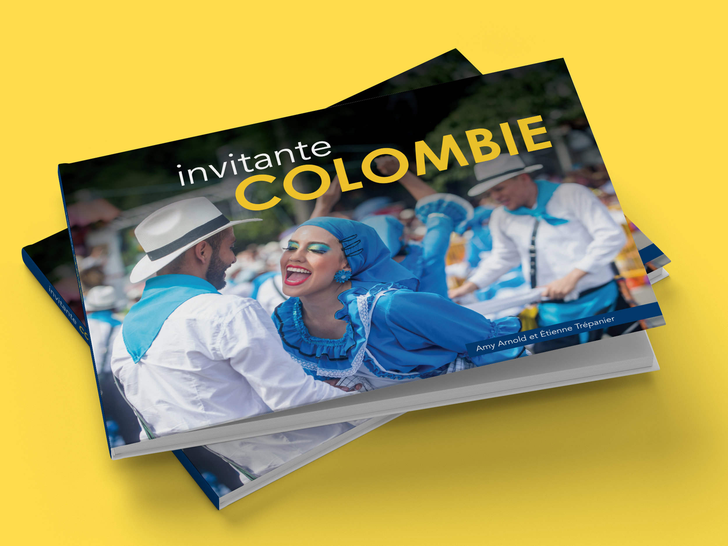 Travel Book Design - Design of French language travel book 'Invitante Colombie'.
