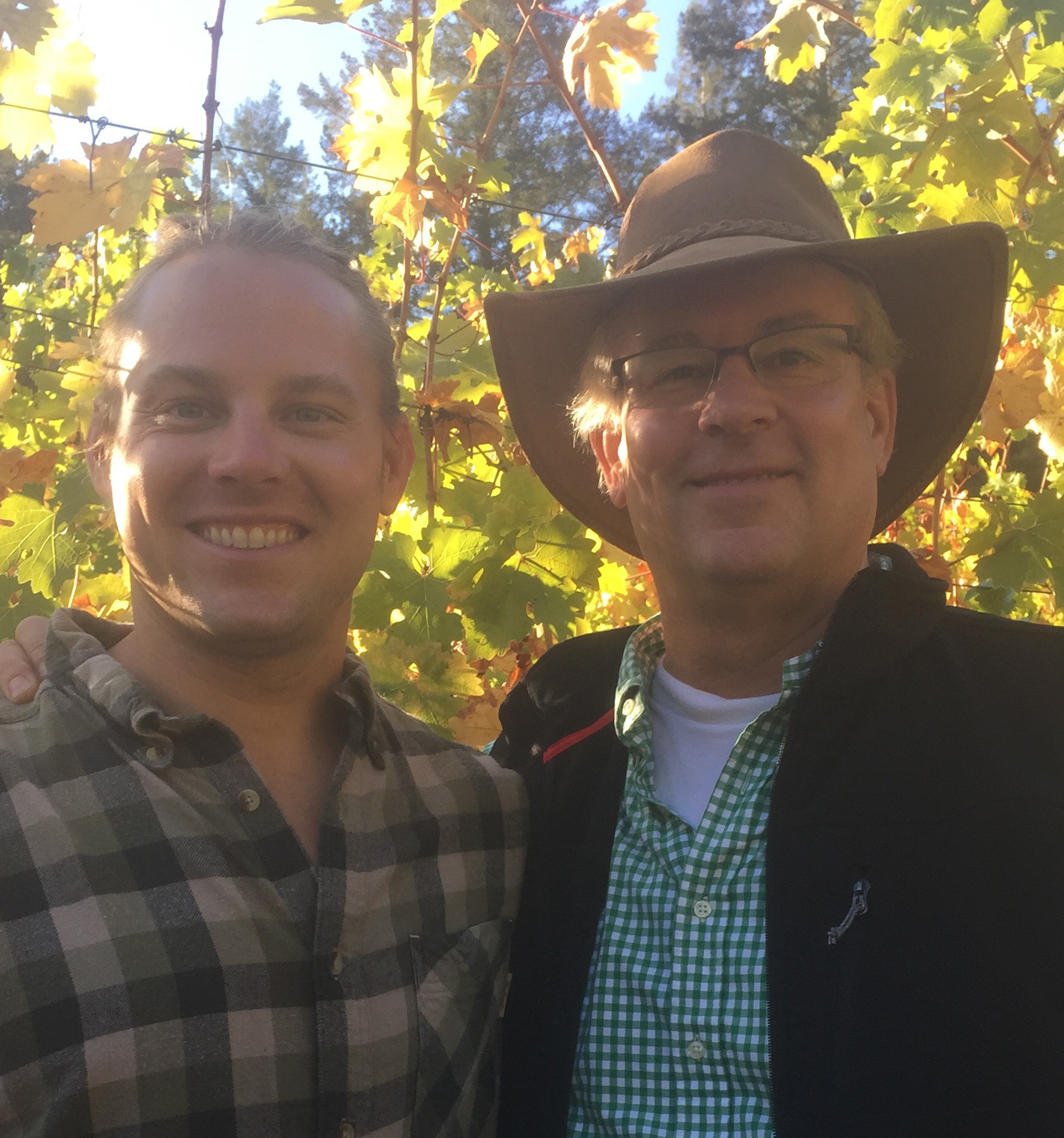 The Wine RayZyn Company founders, Andrew and Chris Cates