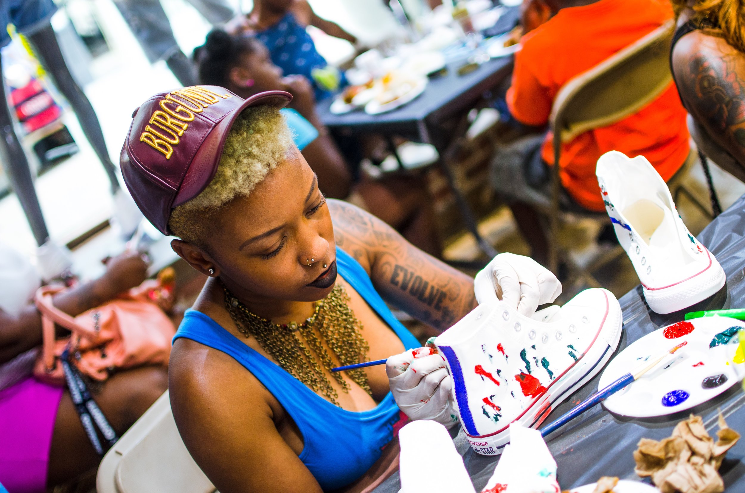 Shoe City x Converse - Sit and Paint  →