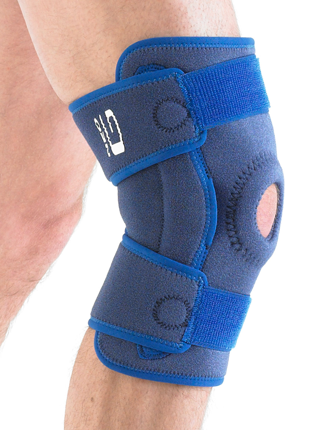 894 - HINGED OPEN KNEE SUPPORT   Weight bearing pressure during movement is more evenly distributed over the joint helping with arthritic and meniscus pain.