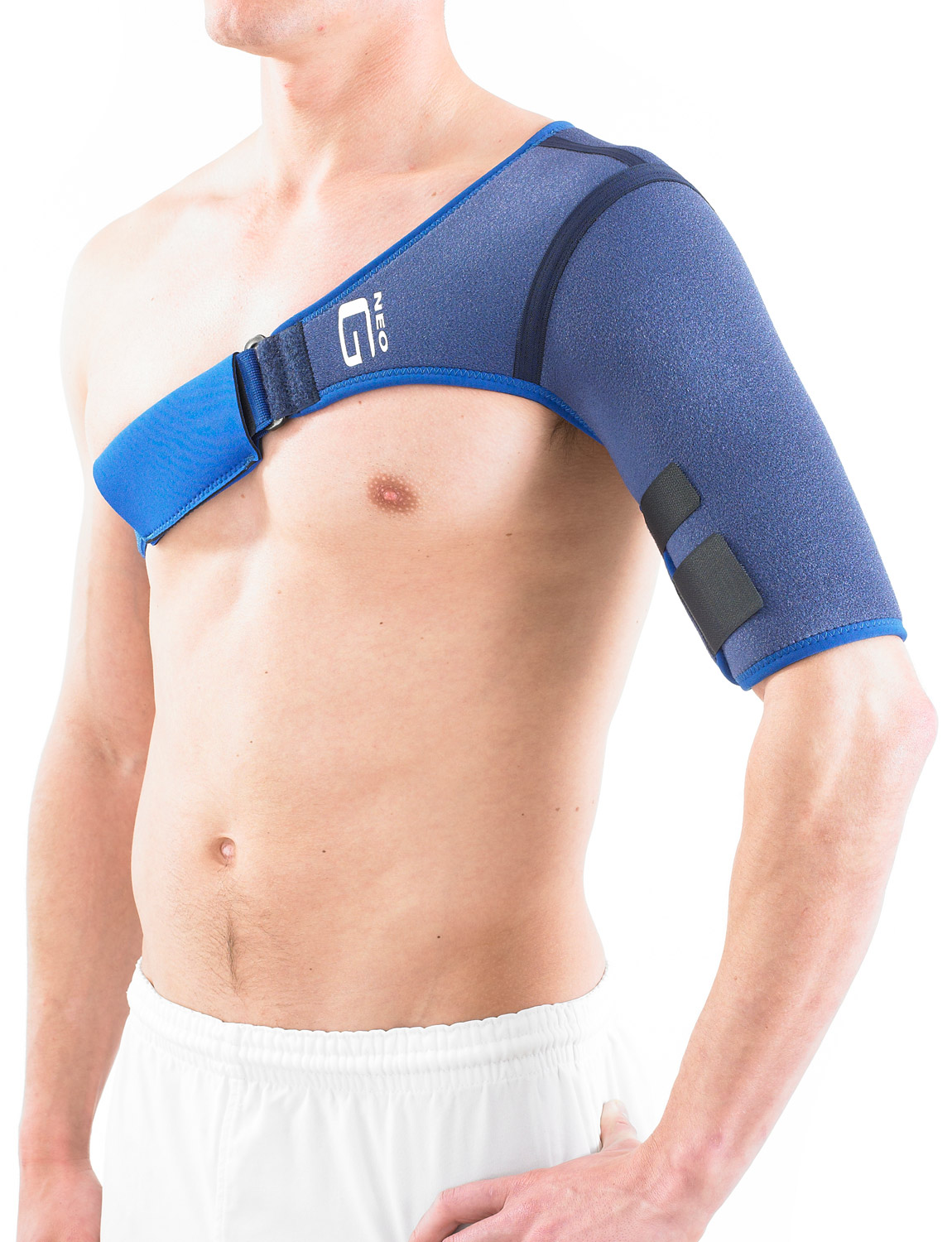 896 - SHOULDER SUPPORT  By stabilizing the whole shoulder the support helps to reduce strain on the shoulder capsule, ligaments and rotator cuff muscles.