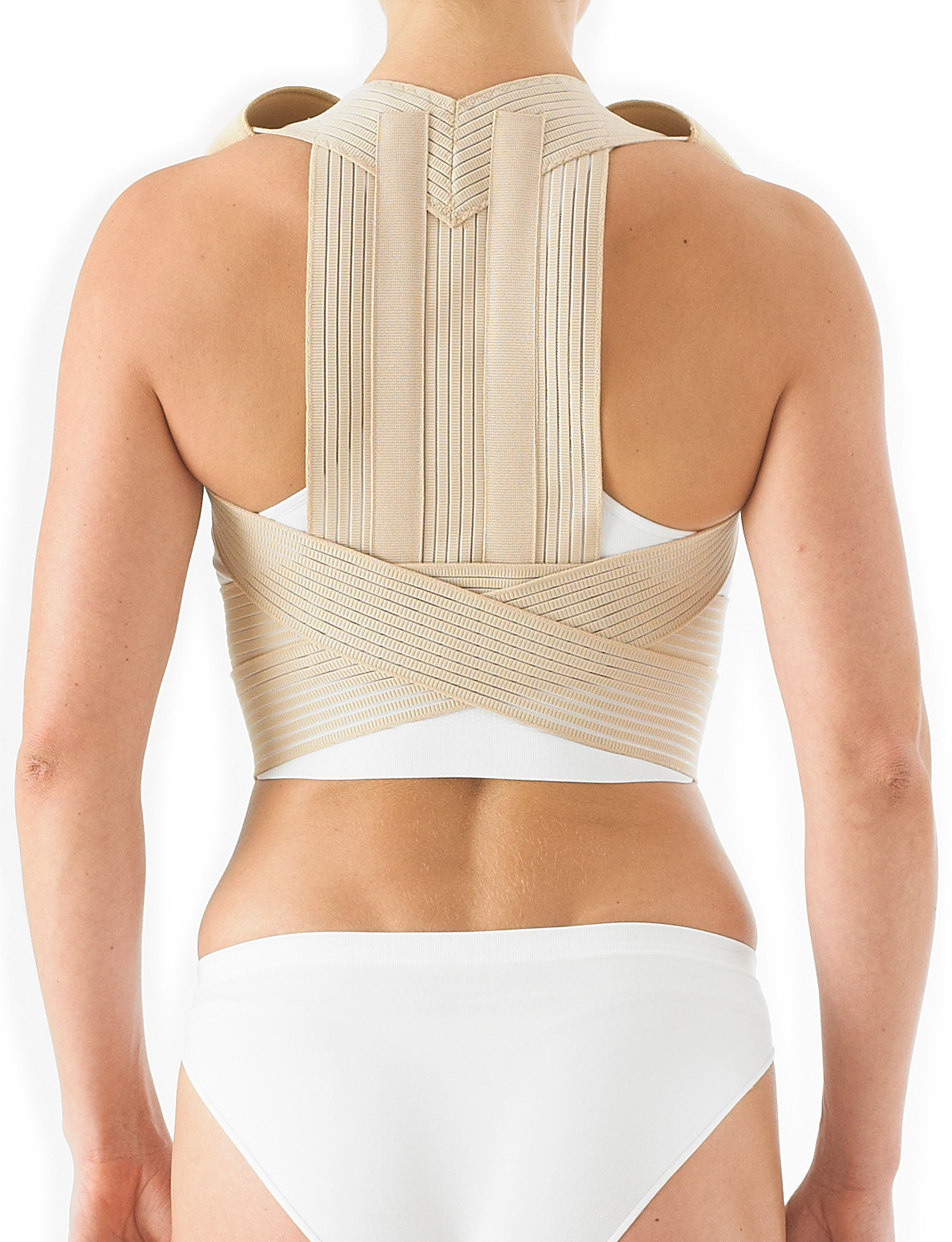 138 - CLAVICLE BRACE (POSTUREX)  Designed to help support an early kyphosis by encouraging correct alignment of the dorsal and lumbar spine. The firm yet flexible stays along with the anatomical design helps provide added support to muscles, ligaments and tendons and comfortably assists with everyday posture.