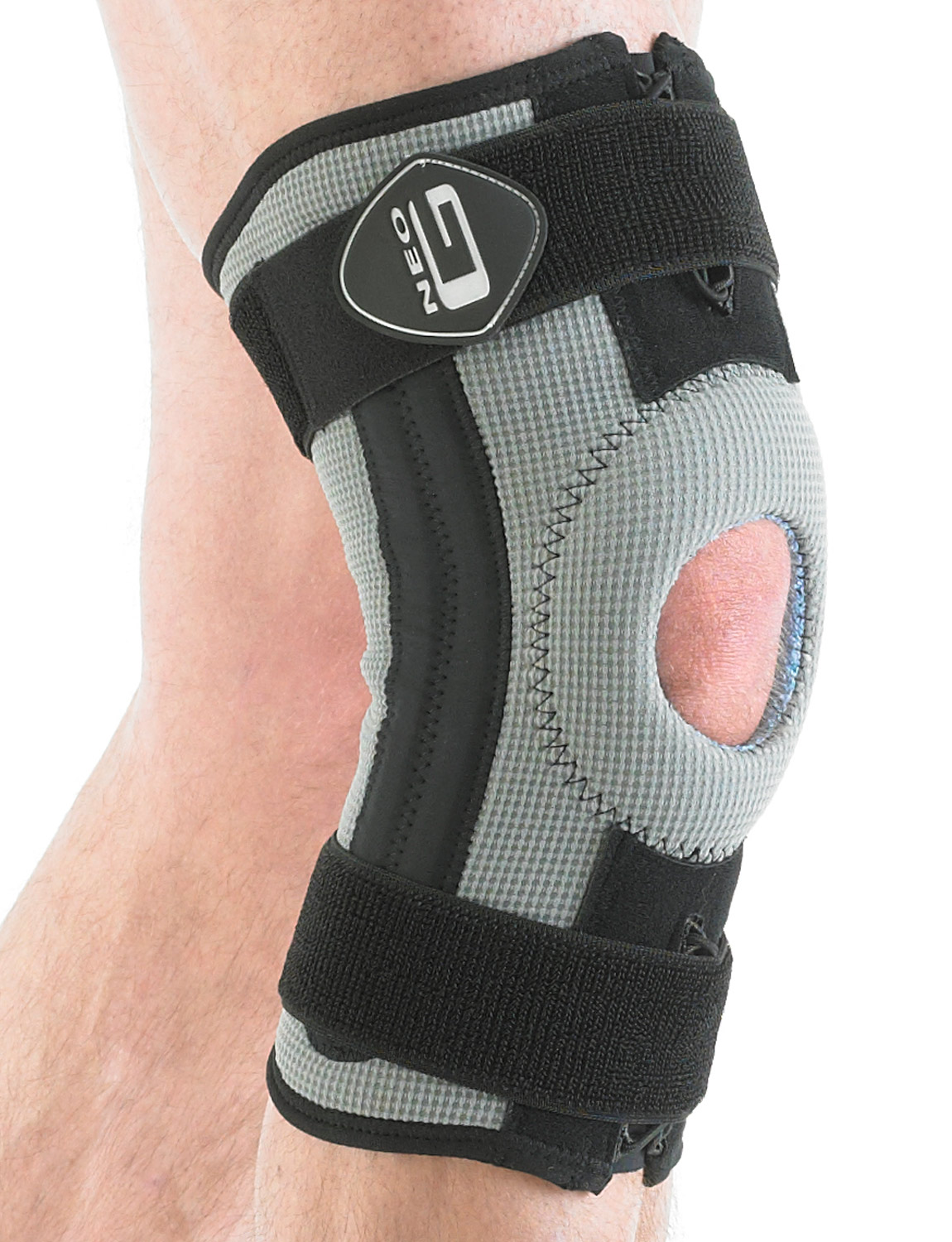 163 - STABILIZED KNEE SUPPORT   Designed to help with knee strains, sprains and instability and is useful for rehabilitation following knee trauma. For additional comfort and reassurance, the support features integrated flexible stays and a premium quality patella silicone insert to dampen vibrations located directly under the kneecap.