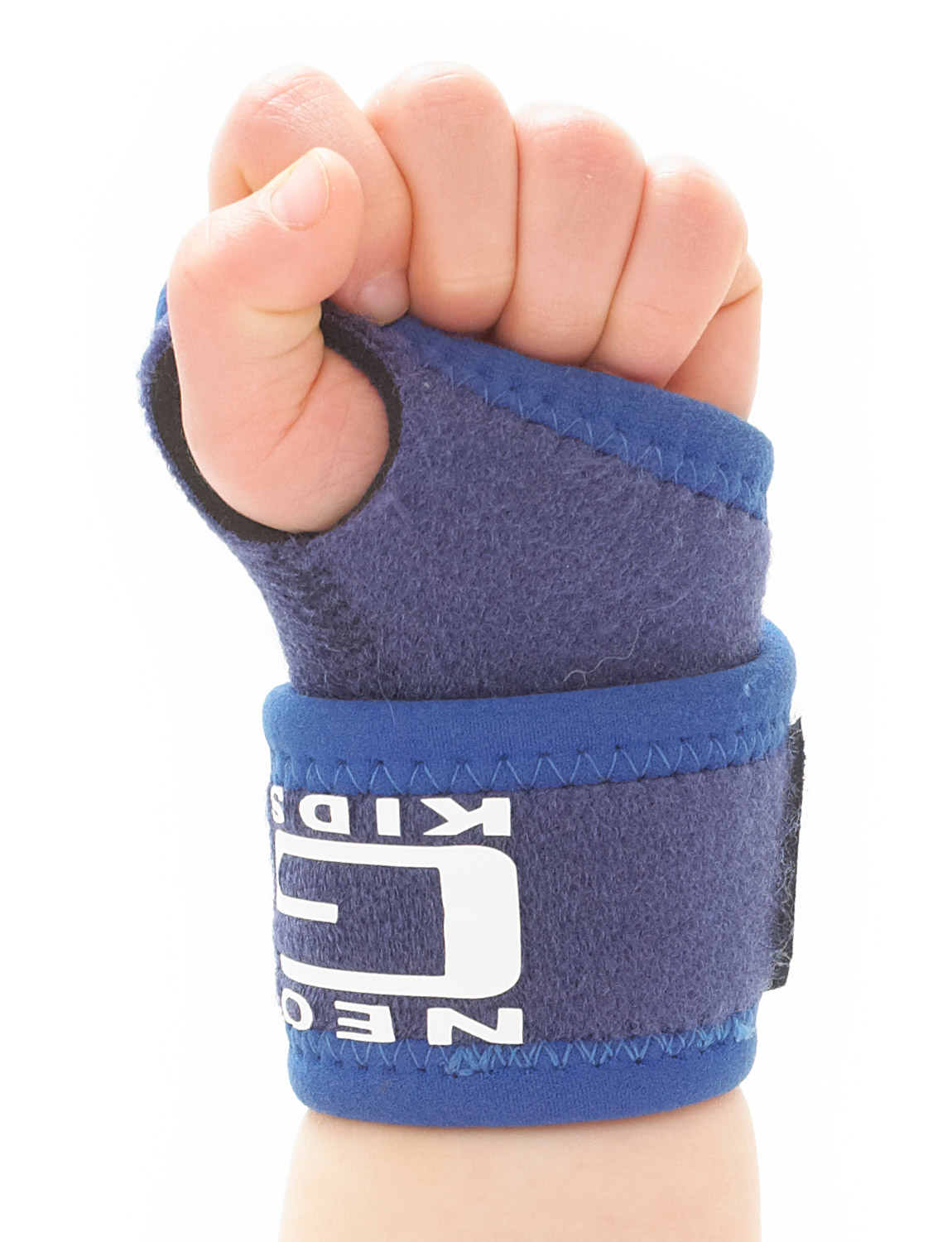 882K -KIDS WRIST SUPPORT  Specifically designed for the younger wearer and can be used to apply adjustable compression and support around the wrist. It can help to manage pain caused by joint or tendon overuse in the wrist or thumb. It helps with strain caused by repetitive wrist movements such as recreational and sporting activities. The durable, heat therapeutic neoprene helps provide warmth and support to muscles and joints to aid weak, injured or arthritic wrists.