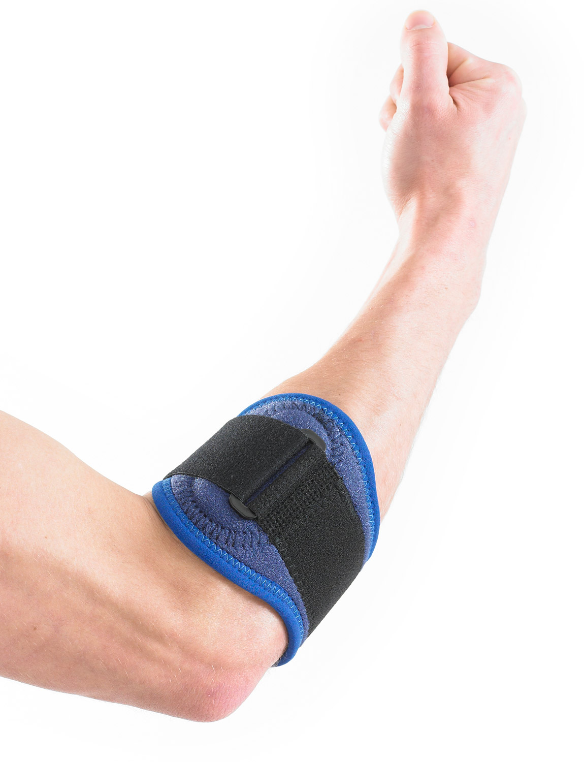 883 - TENNIS/GOLF ELBOW STRAP  It works by helping dampen vibration, stress and strain at the medial and lateral elbow by helping to stabilize and cushion the flexor and extensor muscles in the forearm.