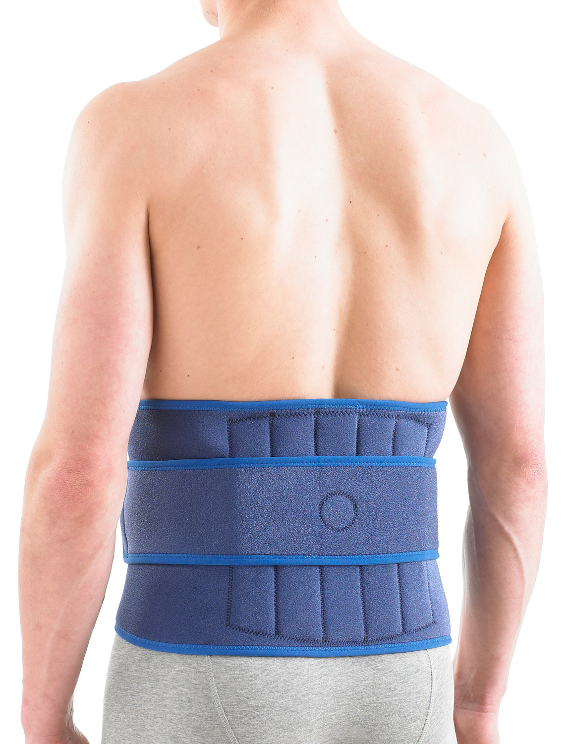 891 - BACK BRACE  The durable, flexible, heat therapeutic neoprene helps warm stiff, aching, tired muscles and arthritic joints. The variable compression fastener, stays and power straps help provide additional stabilization and support whilst ensuring a close, comfortable fit.