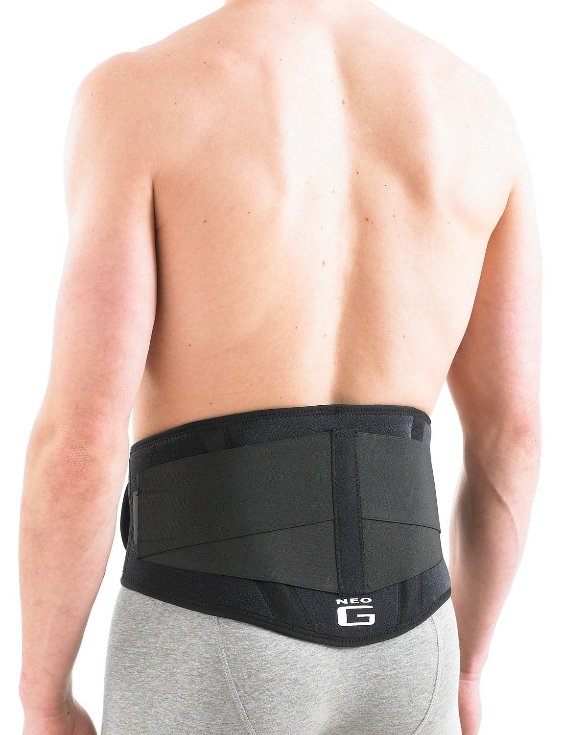 890 - BACK BRACE WITH POWER STRAPS  The durable, flexible, heat therapeutic neoprene helps warm stiff, aching, tired muscles and arthritic joints. The variable compression fastenings ensure a close, comfortable fit and the removable insert is designed to help provide a soothing lumbar massage as you move, aiding with muscular spasm.
