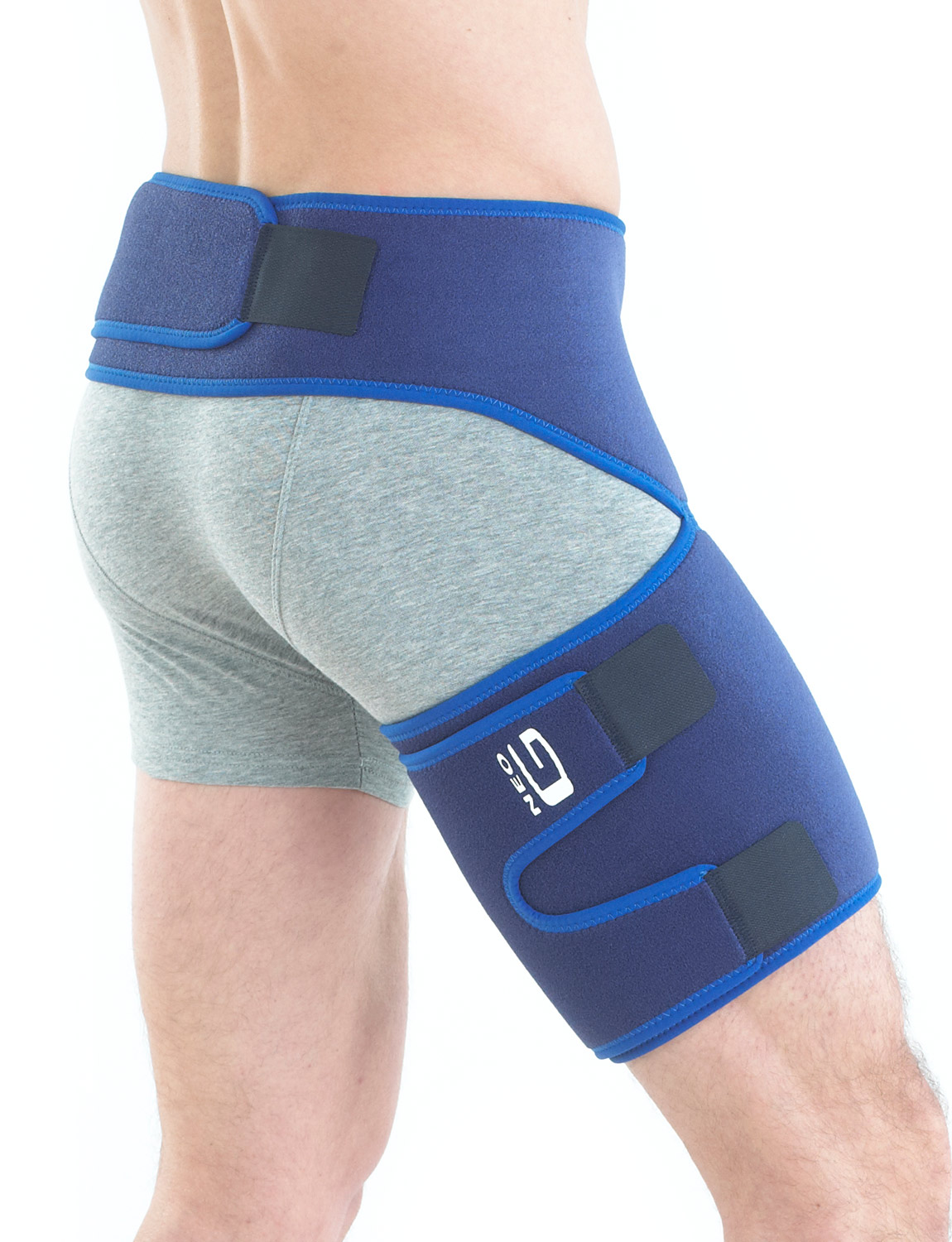 888B - GROIN SUPPORT  Designed to help reduce the contractile force of the adductor muscles at the groin, helping with pain from groin strains or repeated injury, making it well suited to those with occupational or sports related groin injuries.