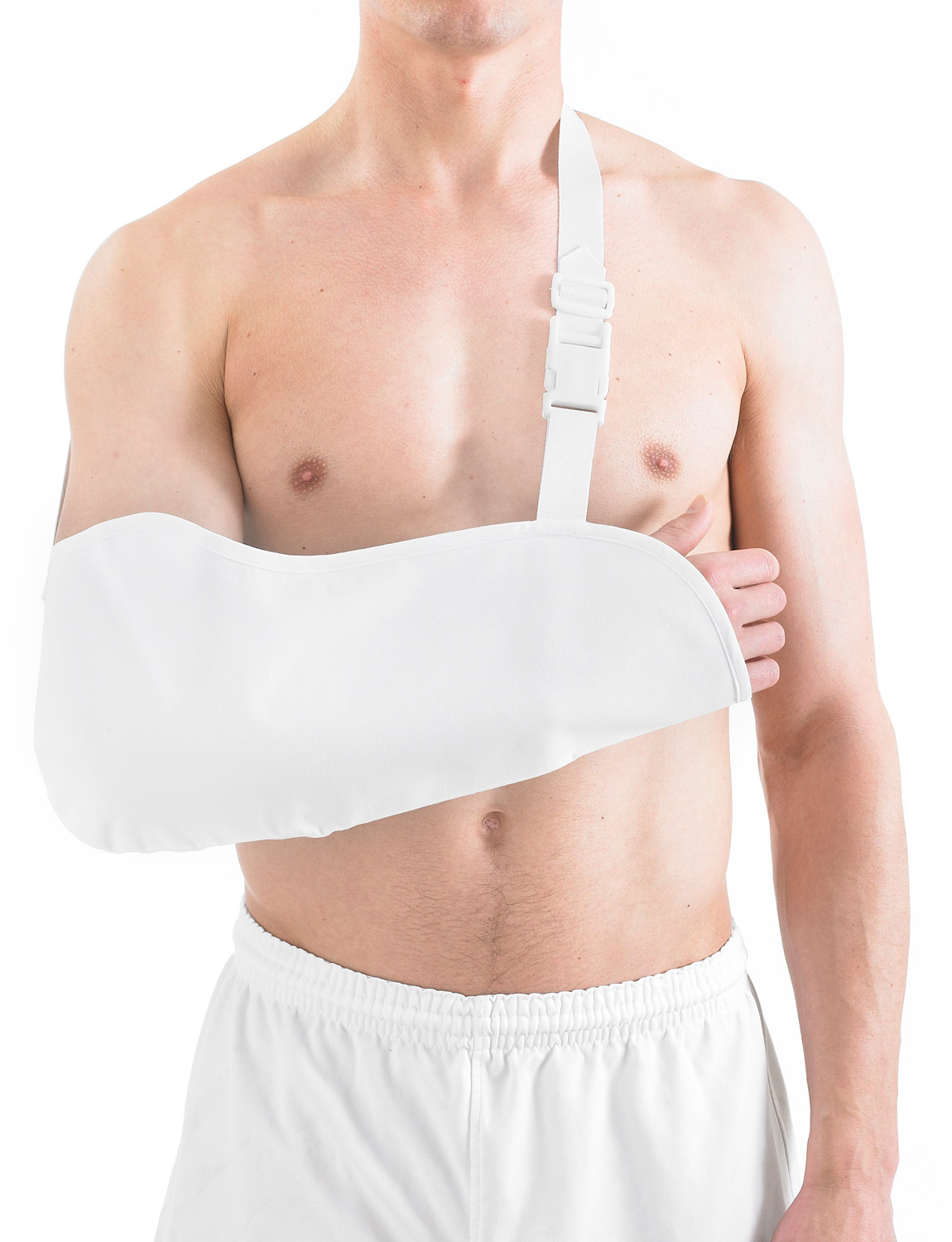 302 - COTTON ARM SLING  Breathable Cotton Arm Sling is a comfortable and lightweight support made from breathable cotton. Helps support and elevate the shoulder and arm to enable a comfortable healing position after injury and help minimize movement during recovery.