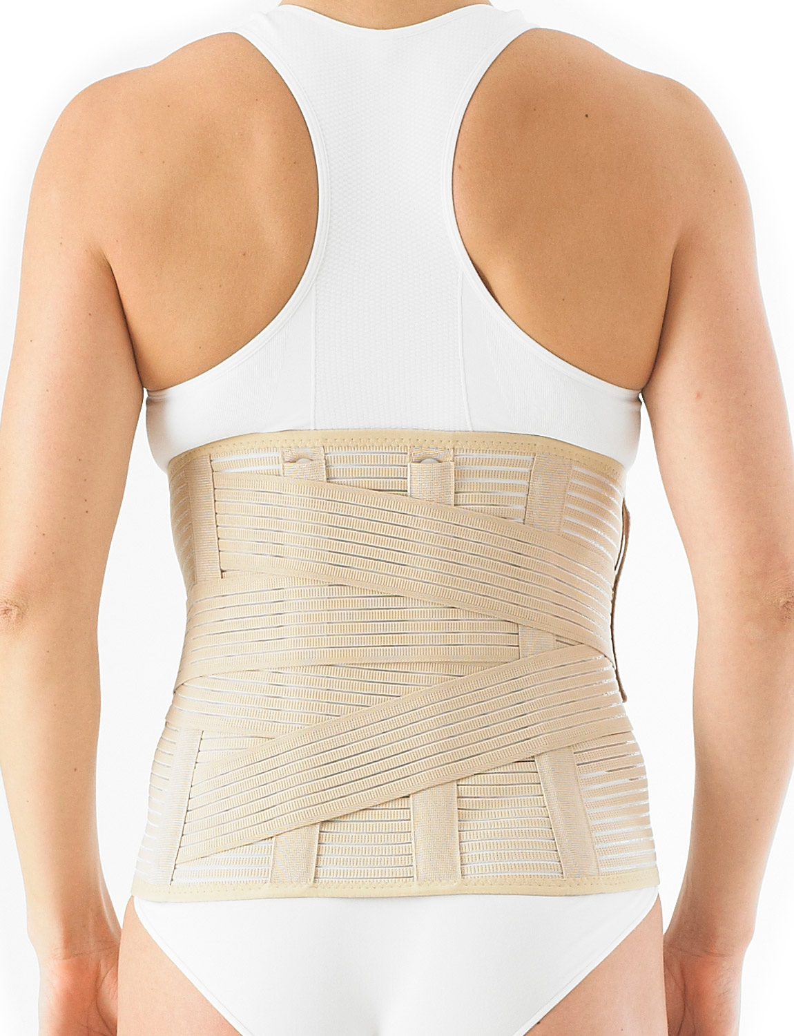131 - LUMBOSACRAL SUPPORT/BRACE  It can help ease pressure on mild disc herniation and bulging as well as mild lumbago and also helps maintain proper alignment of the lumbar spine to encourage rehabilitation.
