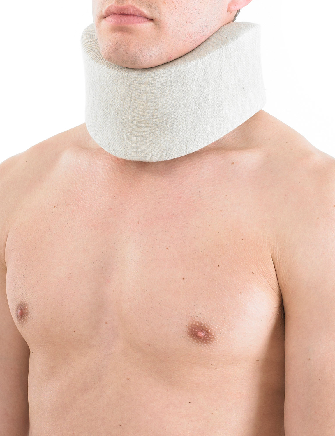 203 - SOFT COLLAR  Soft Collar has been specifically designed to help provide flexible support and cushioning around the neck and to reduce pressure through the cervical vertebra. Useful in the early stages of neck injury, the collar helps to allow cervical musculature to rest and recover.