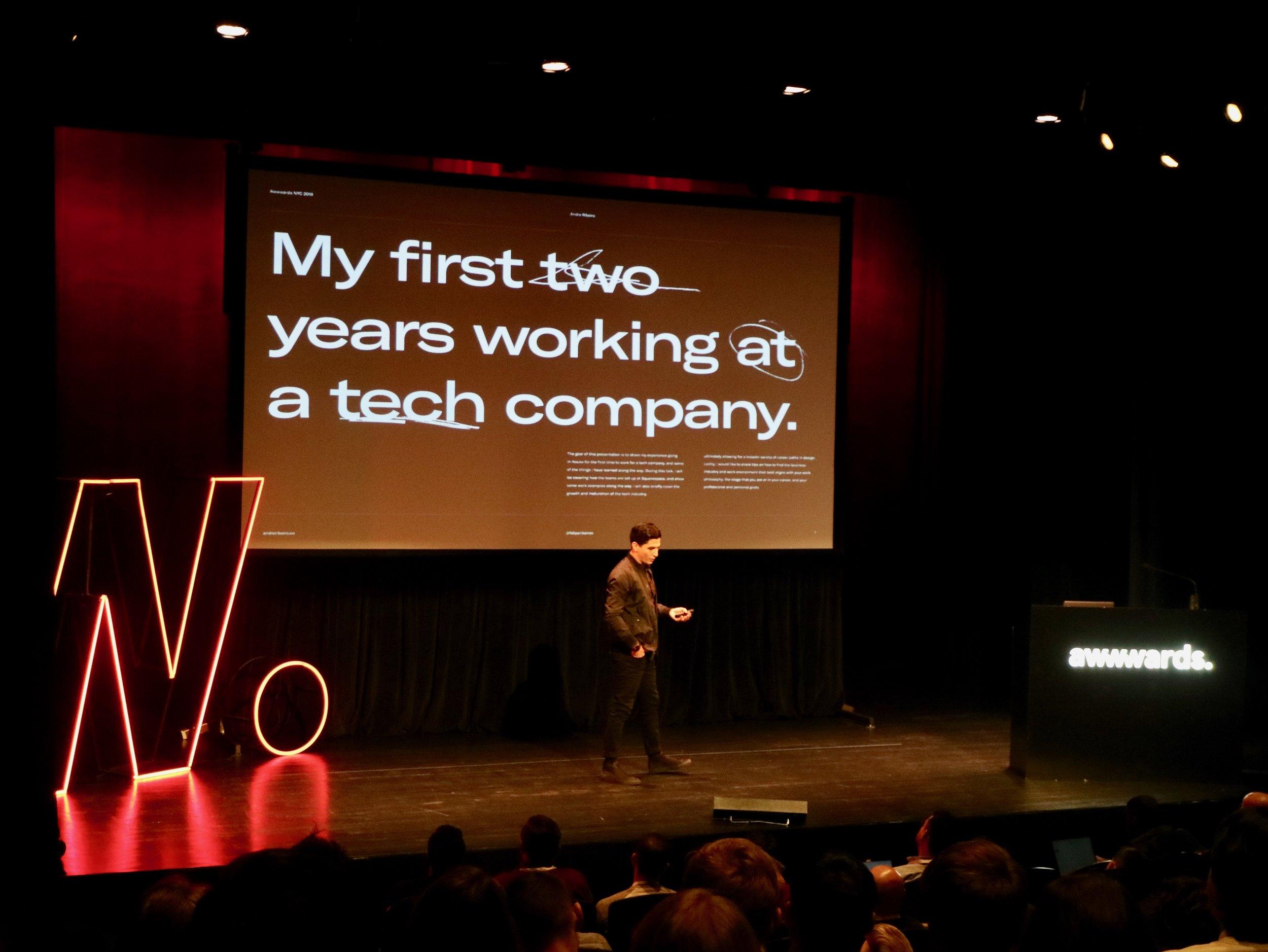 Squarespace的Design Manager Andre Felipe Ribeiro 跟大家分享他加入In-house團隊兩年後的心得,