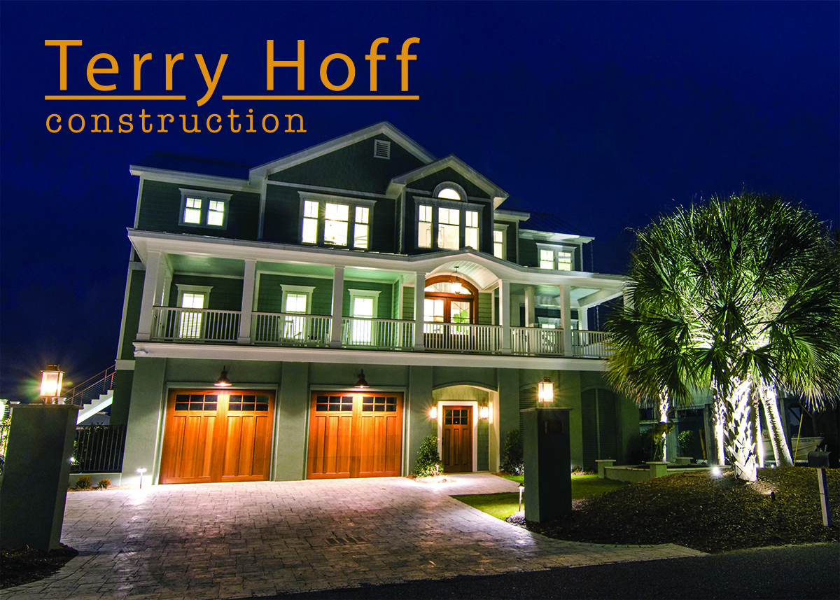 House at night, Terry Hoff Construction