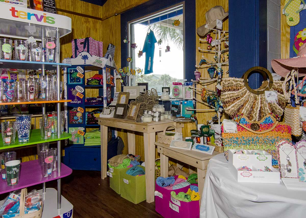Interior of A Shore Thing Gift Shop