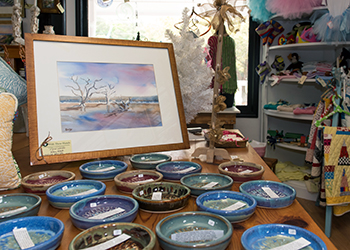 Pottery and painting at With These Hands Gallery