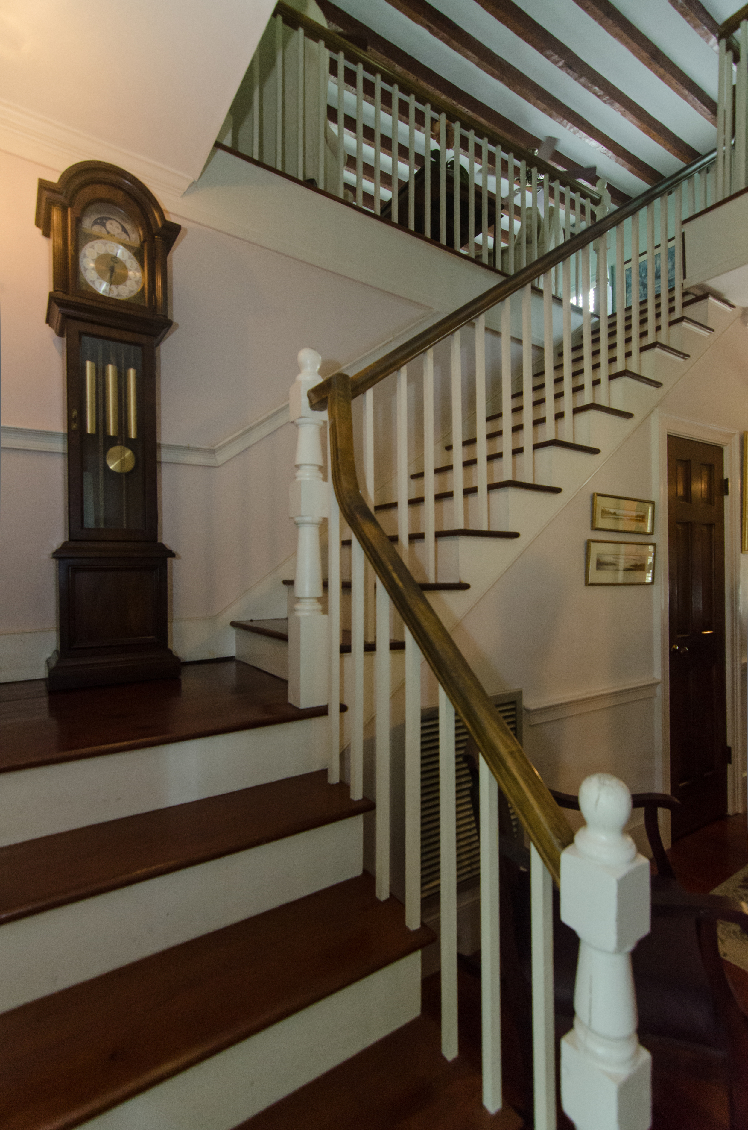 Staircase inside the Bailey House.