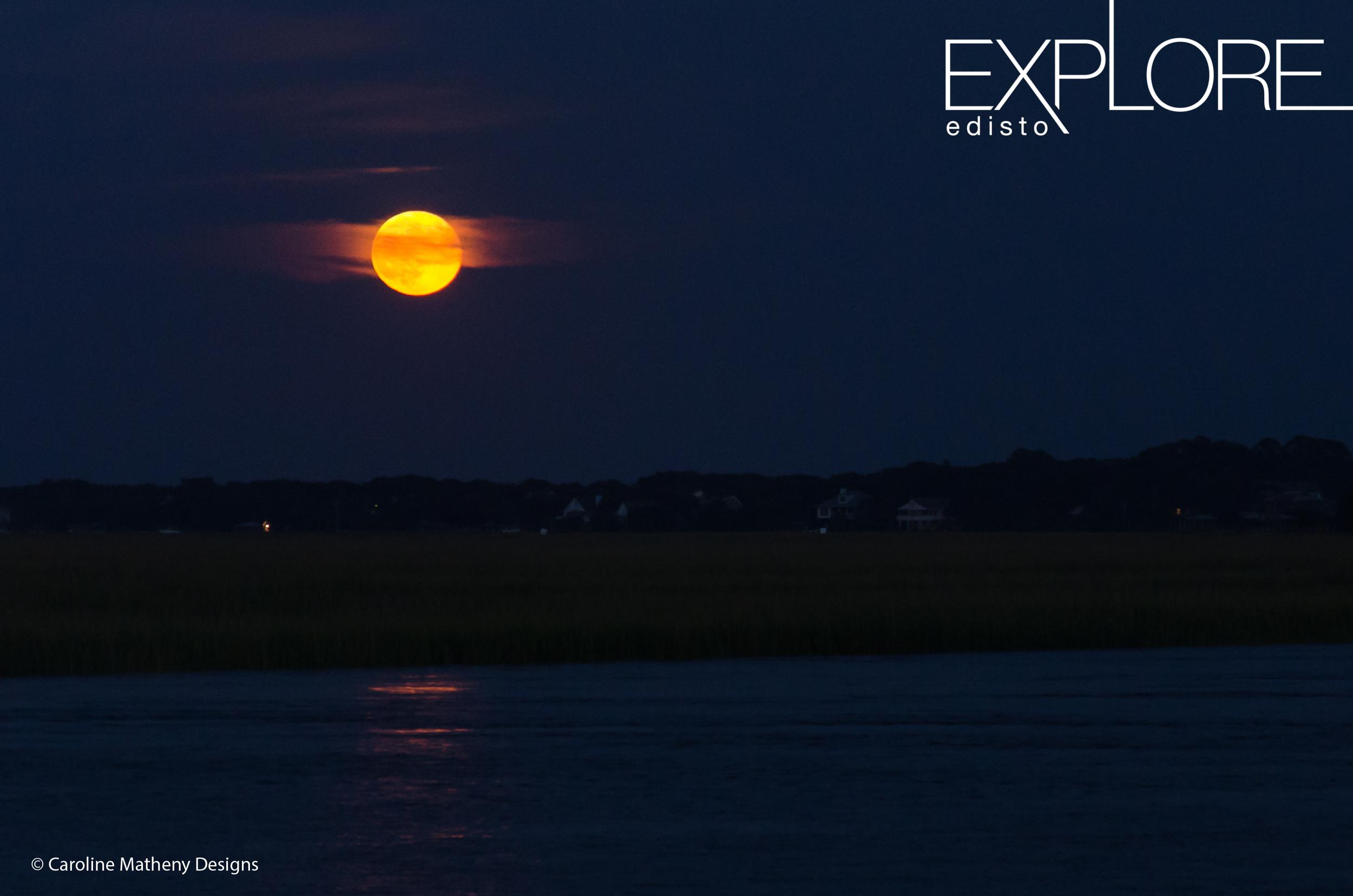 Moon over Edisto.