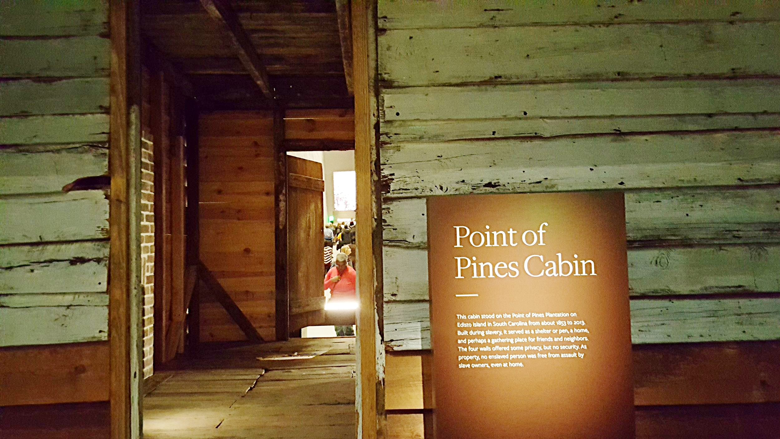 The Cabin now stands as center focal point inside the new Smithsonian Museum