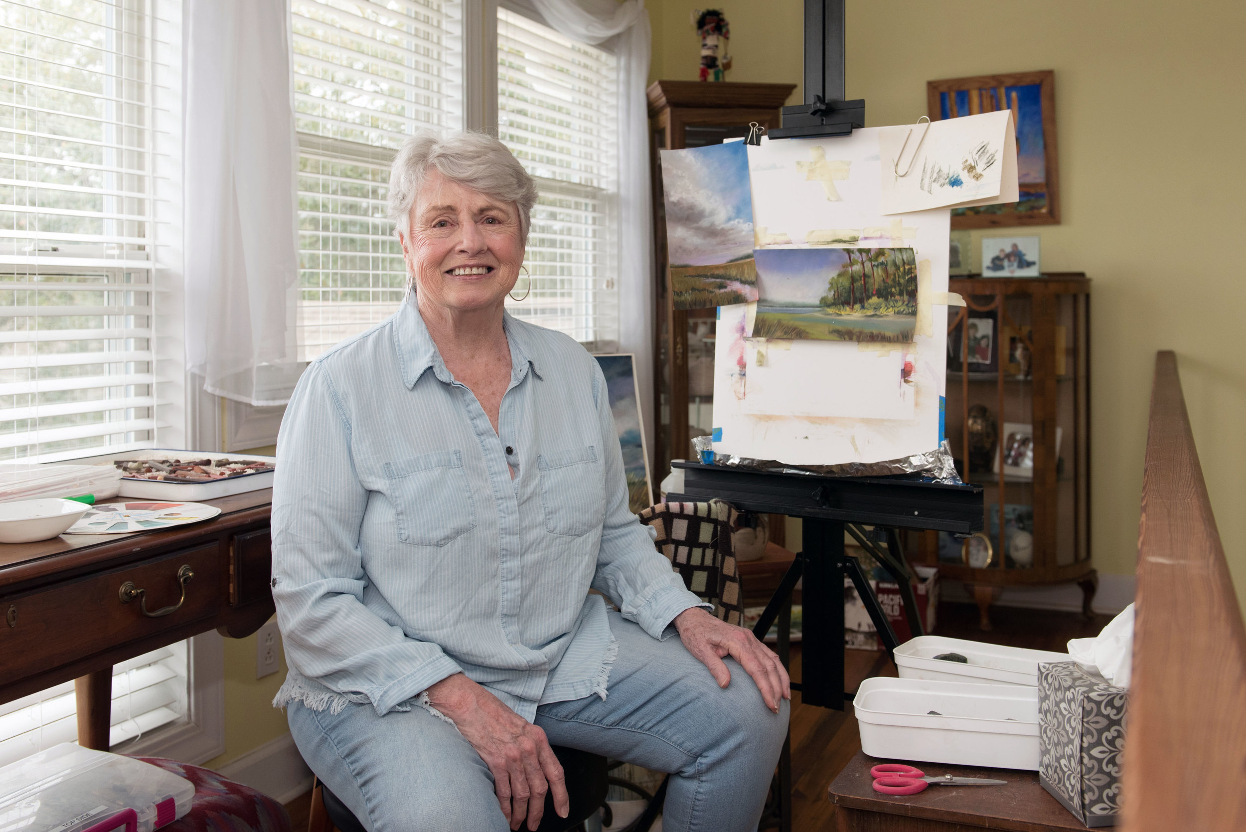 Artist Bonnie Lee in her home studio.