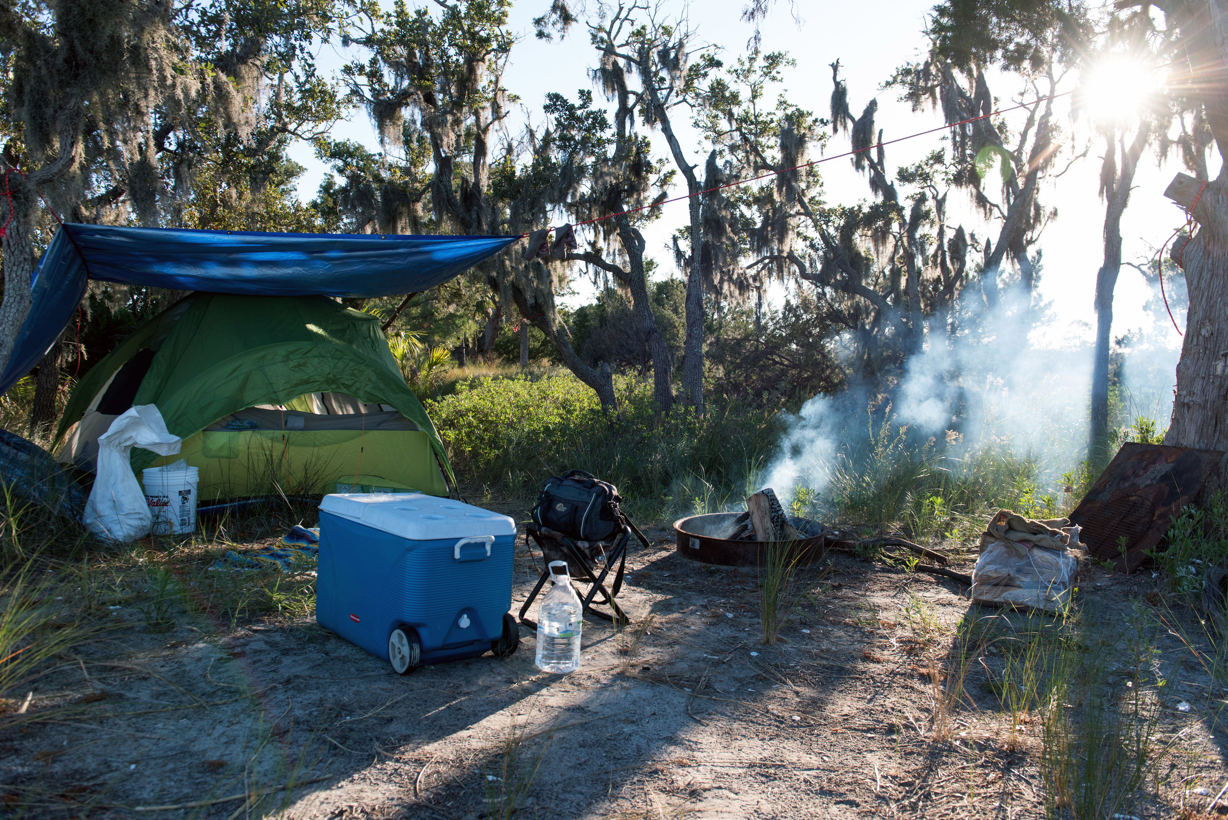 Camp site at Otter Island.