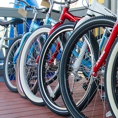 Bicycle tires, Island Bikes and Outfitters
