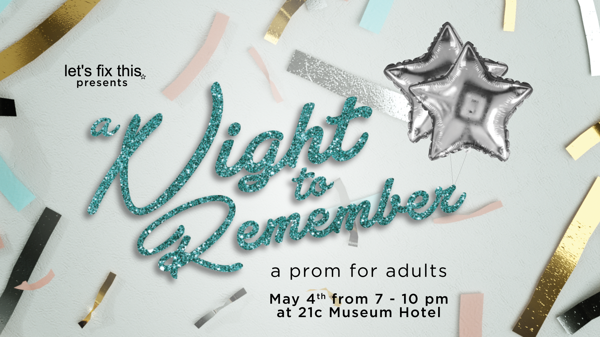 Will you go to prom with us? - Attend our spring fundraiser and have the prom experience you wish you had back in high school.