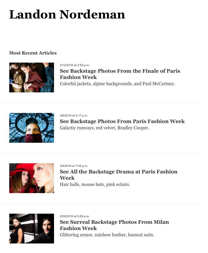 March –  New York Magazine :   Portfolio Archive
