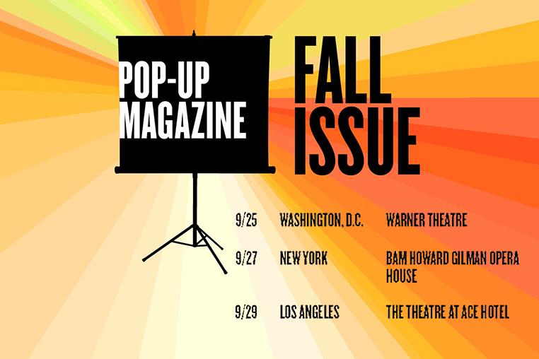 September 20 - Pop-Up Magazine   Landon joins the Pop-Up Magazine Fall Tour