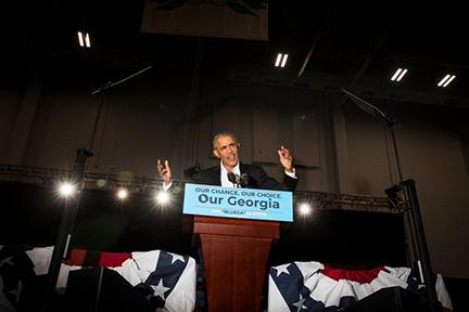 November 3 - The New Yorker   Landon photographs Obama in Atlanta