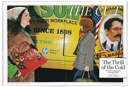 January 21 - New York Magazine   Landon shoots the winter streets