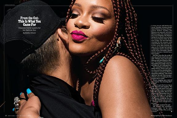 June 20 - New York Magazine   Landon photographs Rihanna at The Webster