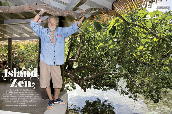 September 12 - Billboard Magazine   Landon shoots Chris Blackwell in Jamaica