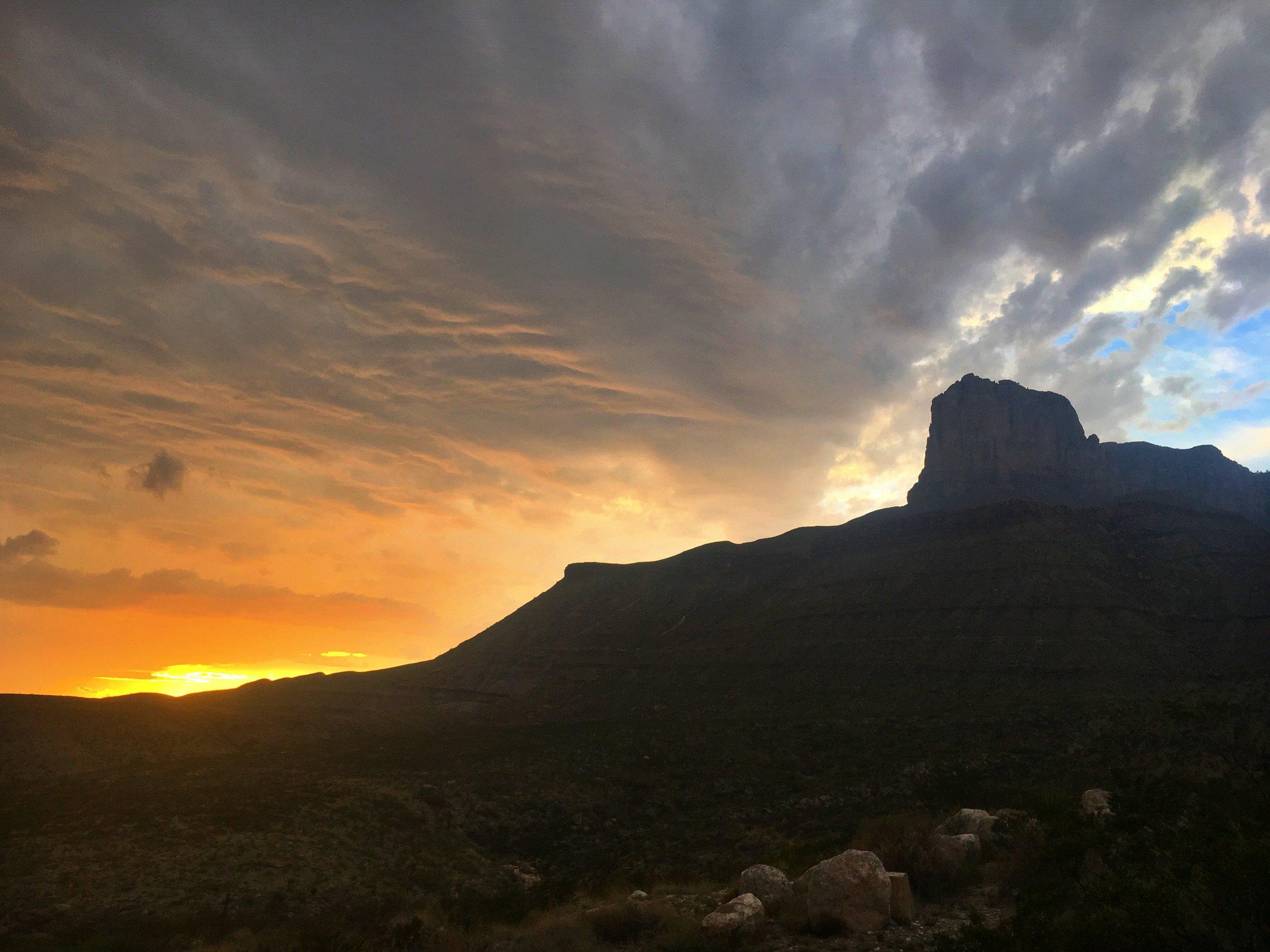 Sunset behind El Capitan
