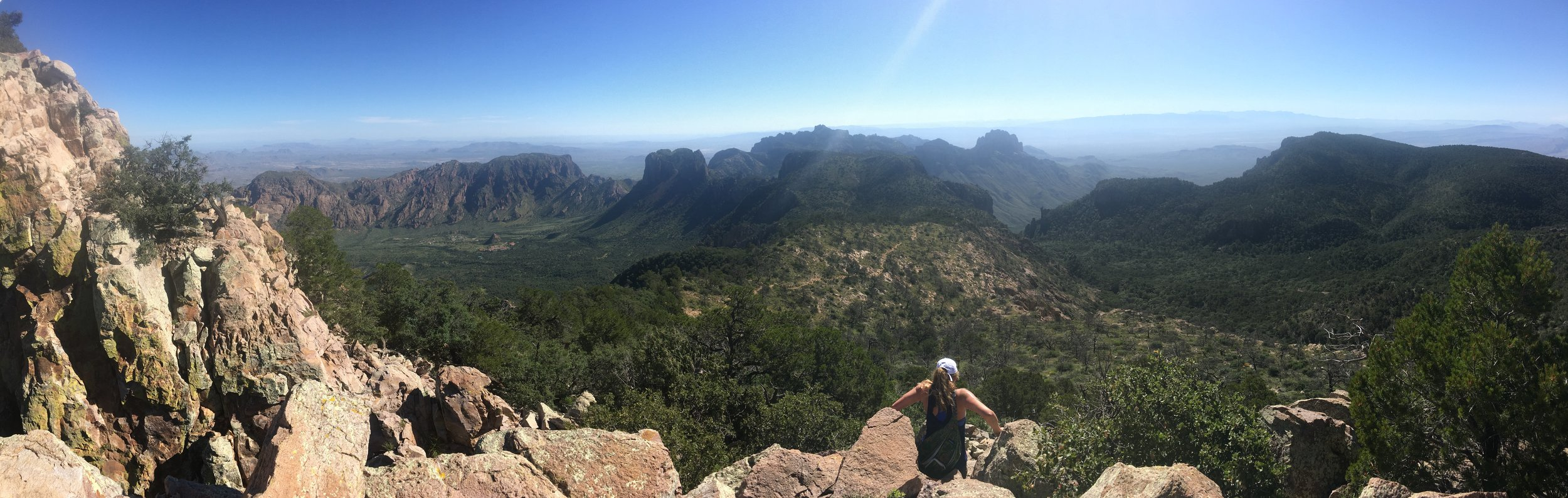 Scrambling down from Emory Peak. BEAUTIFUL CHISOS I'LL BE BACK.