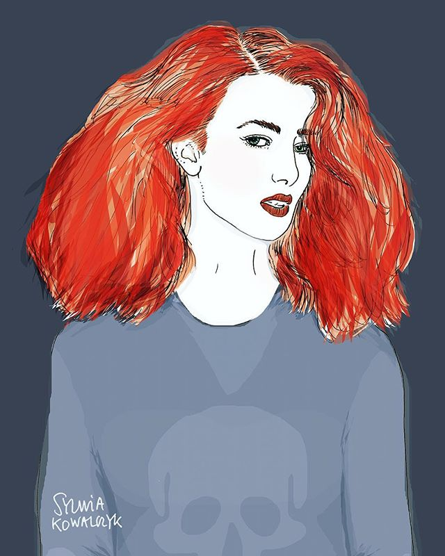 This is my dream hair colour. Oh and some @zadigetvoltaire cashmere jumper would not go amiss either 🤔 #haircolor #redhead #redheadsdoitbetter #zadigetvoltaire #zadigandvoltaire #illustration #portrait #theillustriousillustrator #scotlandillustration #editorialillustrator #editorialillustration #fashionillustrator #fashionillustration #fashionillustratorsoninstagram