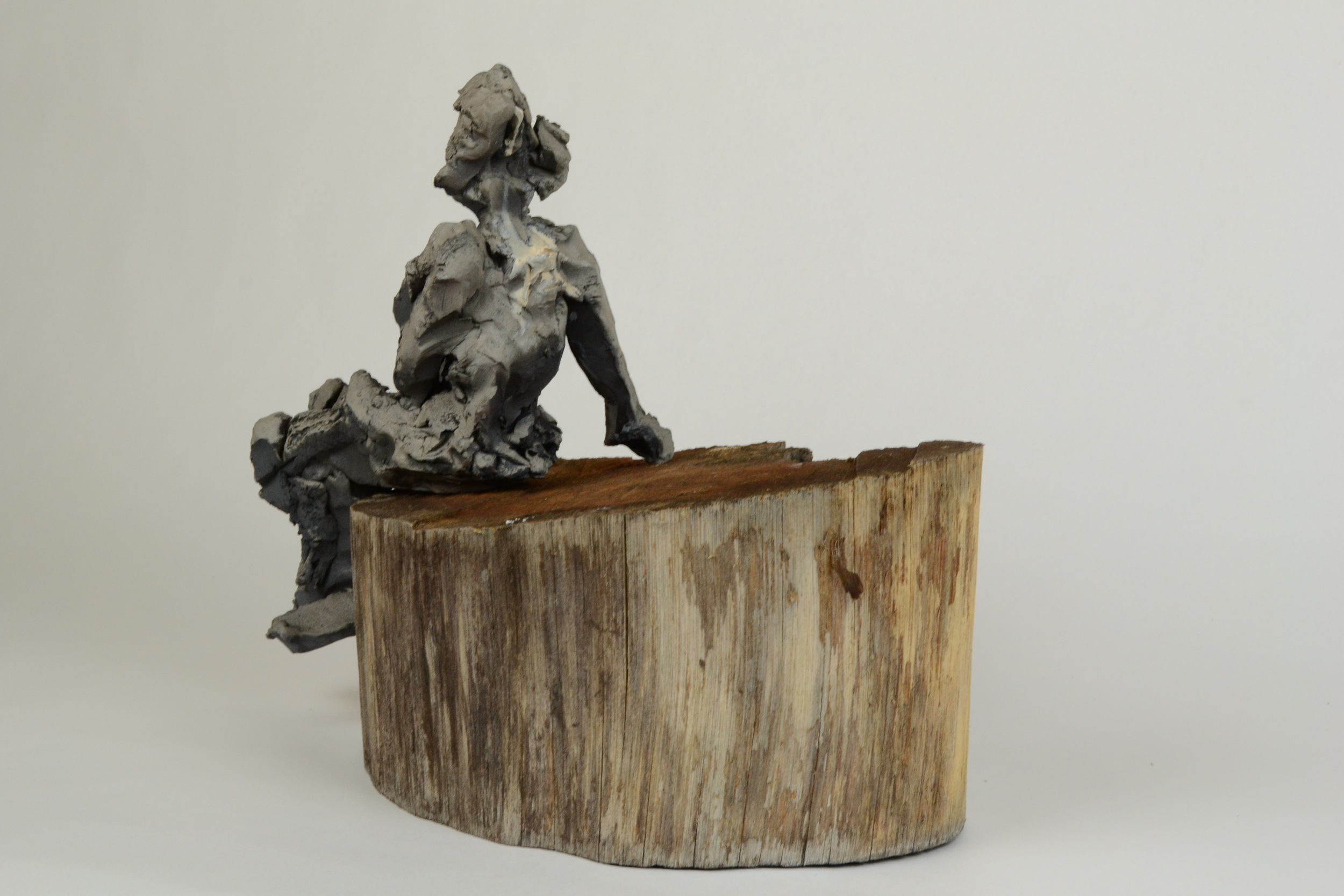 BLACKWARE FIGURE STUDY (WOMAN ON A STUMP