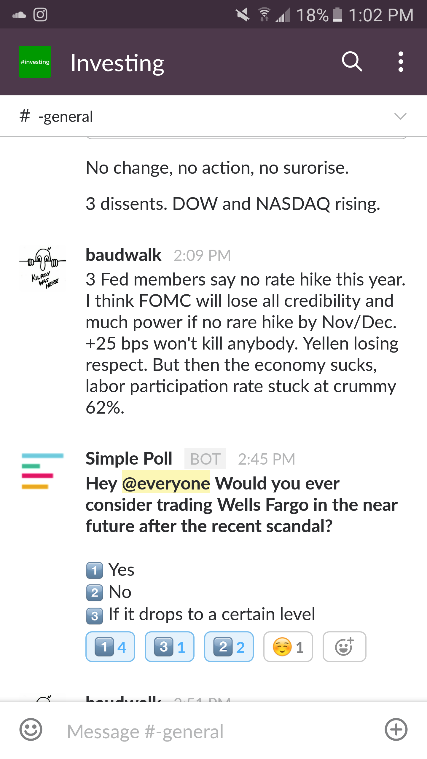 investing chat group