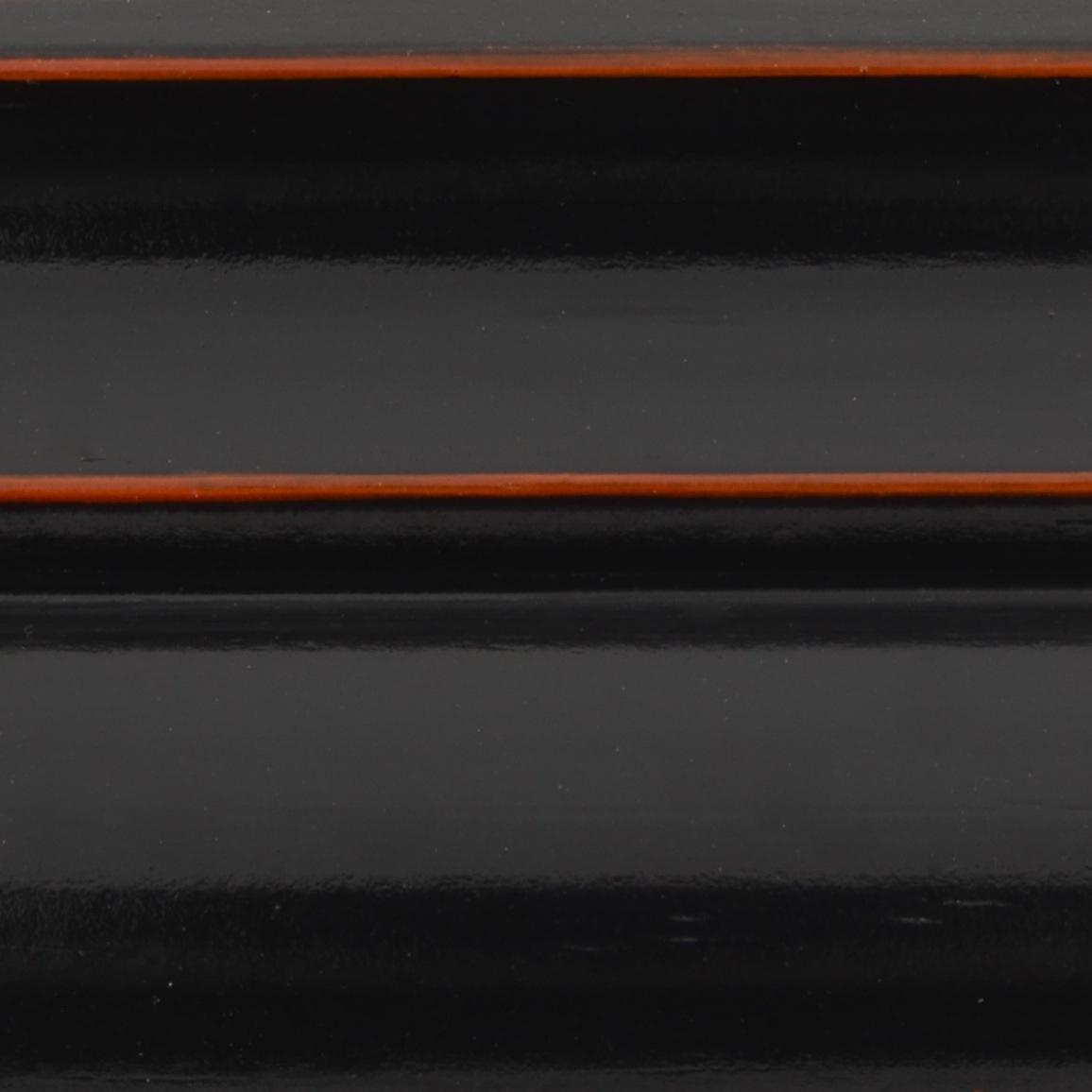 Black Japanned over Orange