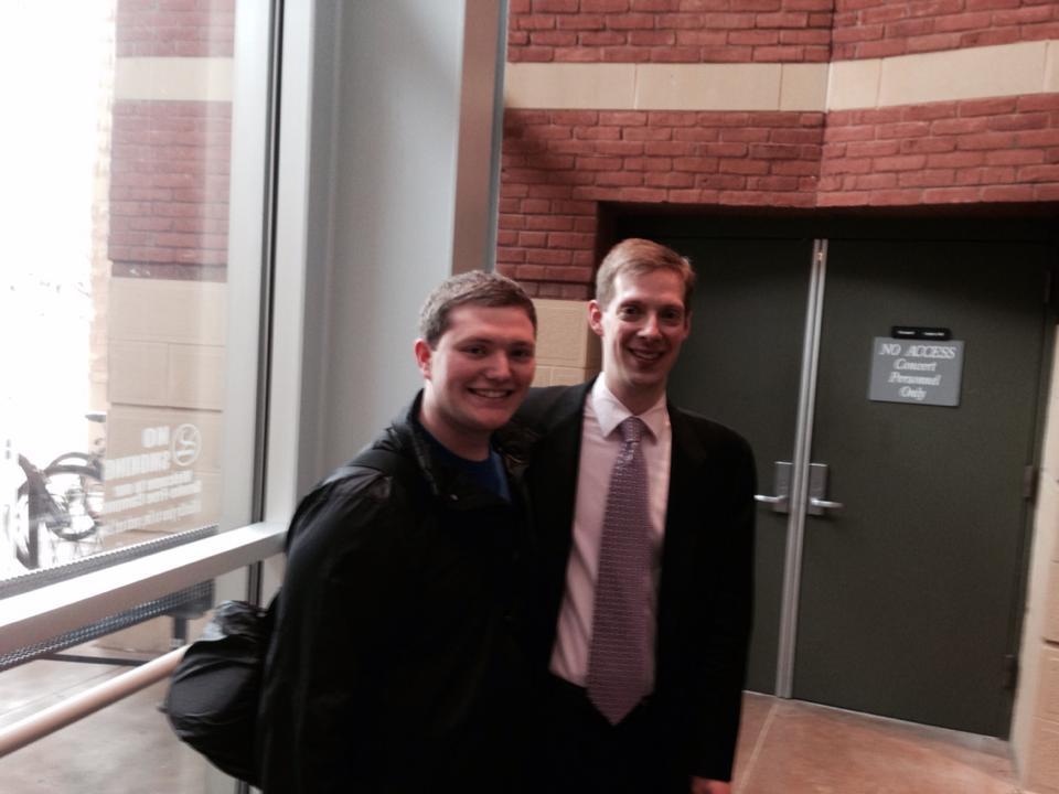 Brandon with James Markey (Bass Trombonist for Boston Symphony Orchestra)