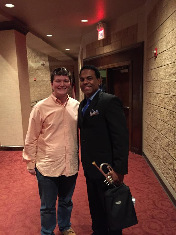 Brandon with Ravi Best (Kool & the Gang, SNL, Count Basie Orchestra)