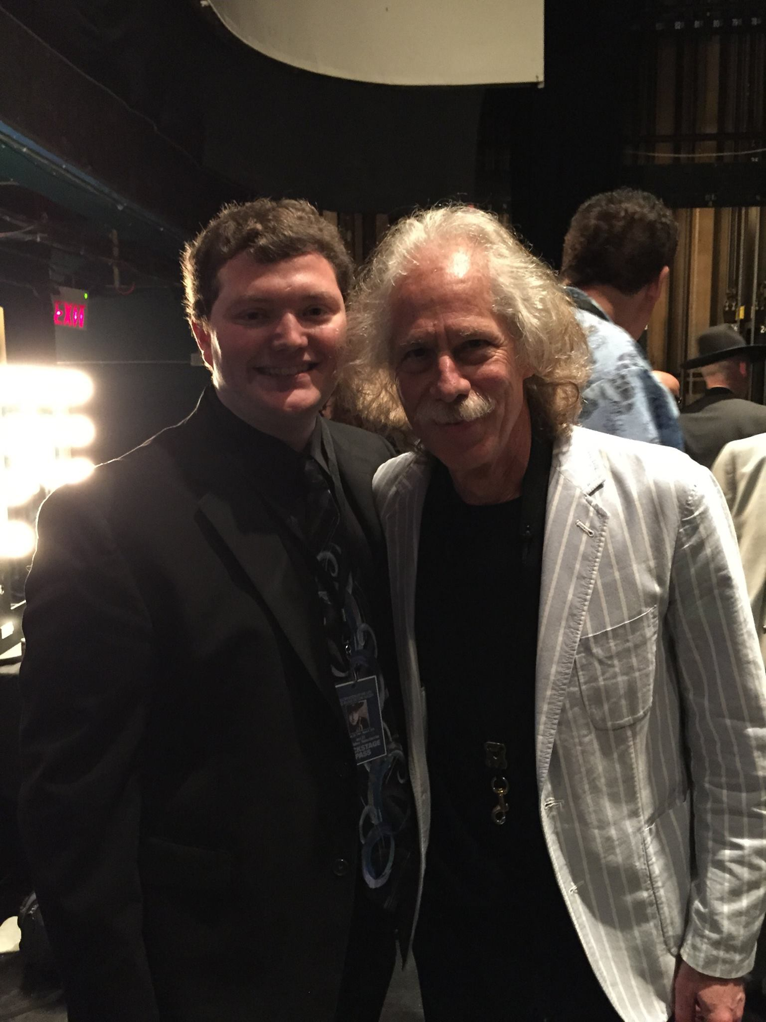 Brandon with Blue Lou Marini (Original member of Blues Brothers band, SNL, Blood Sweat & Tears)