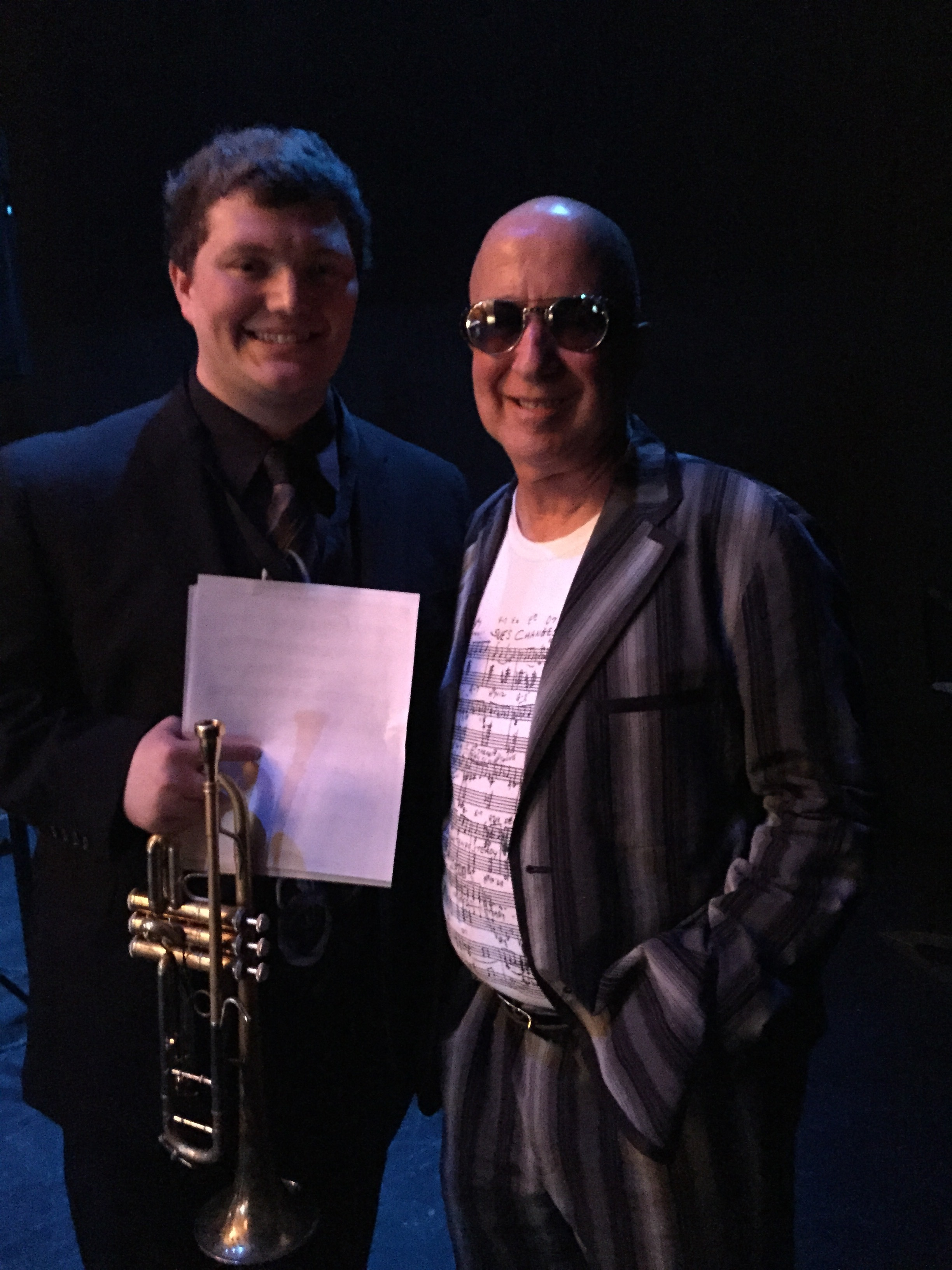 Brandon with Paul Shaffer (Band Leader of the CBS Orchestra for the Late Show with David Letterman)