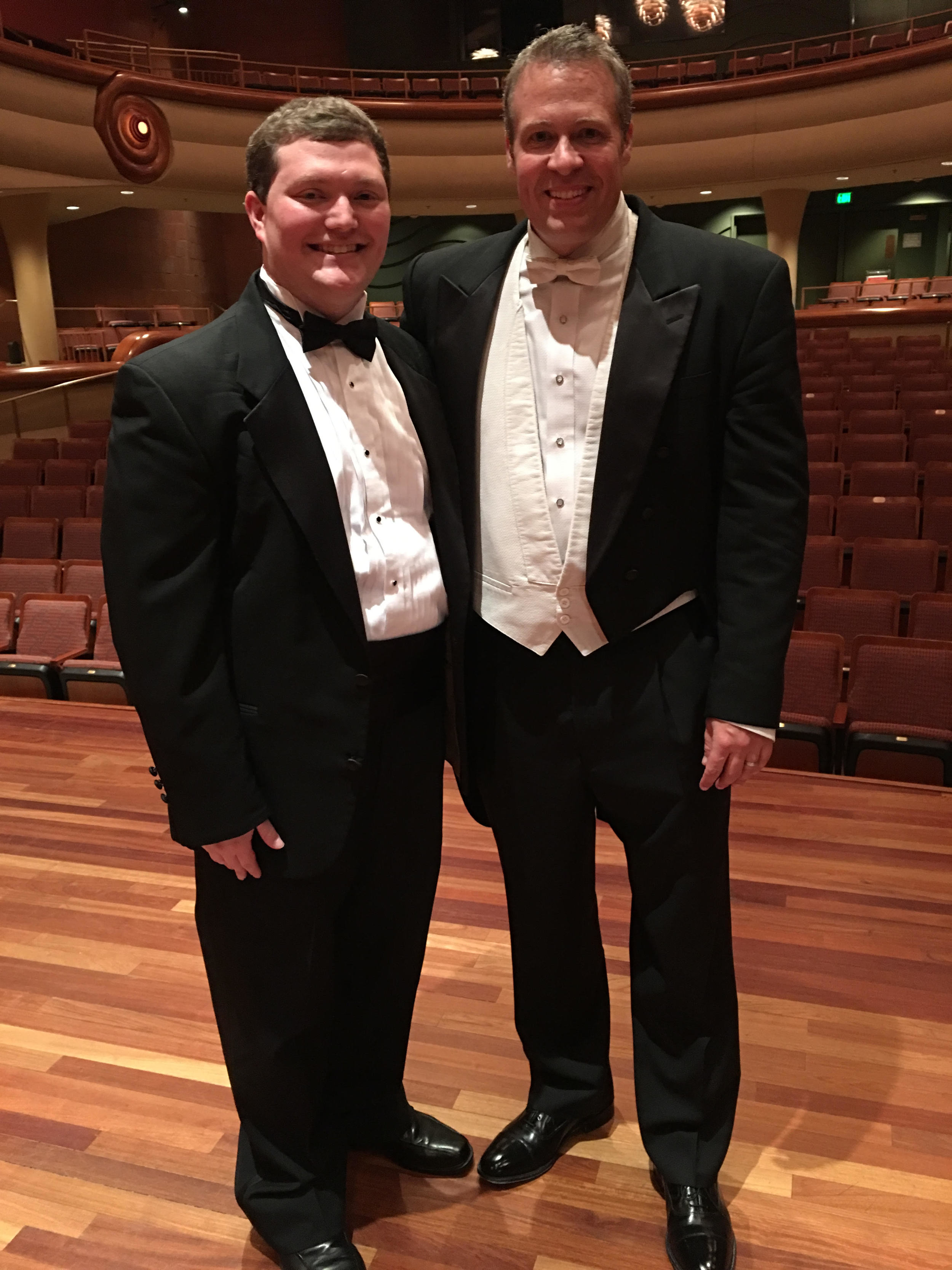 Brandon with Dr. Jamie Nix (Director of Wind Ensemble Activities at Columbus State University)