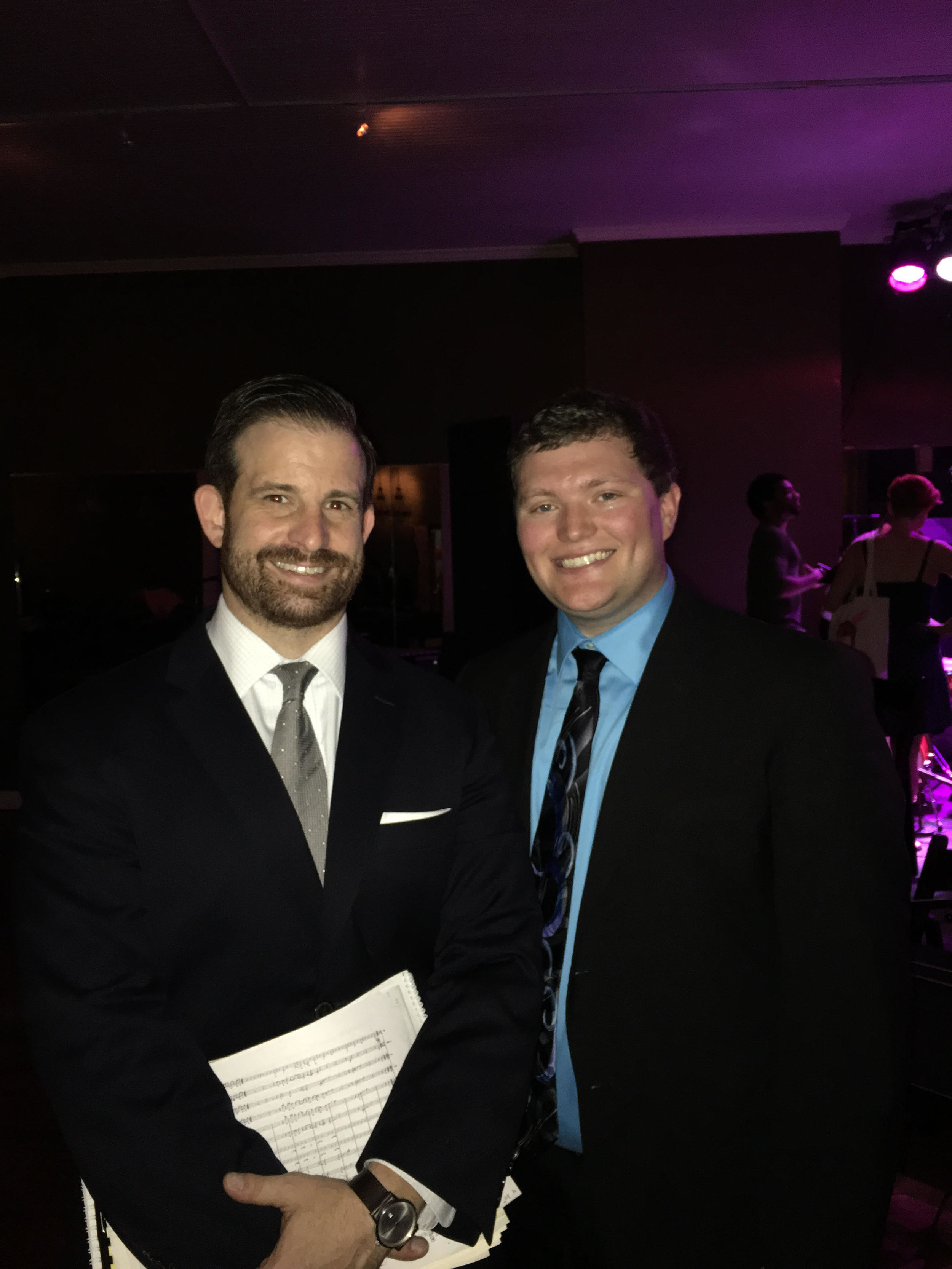 Dr. Kevin Whalen (Director of Jazz Studies at CSU) with Brandon