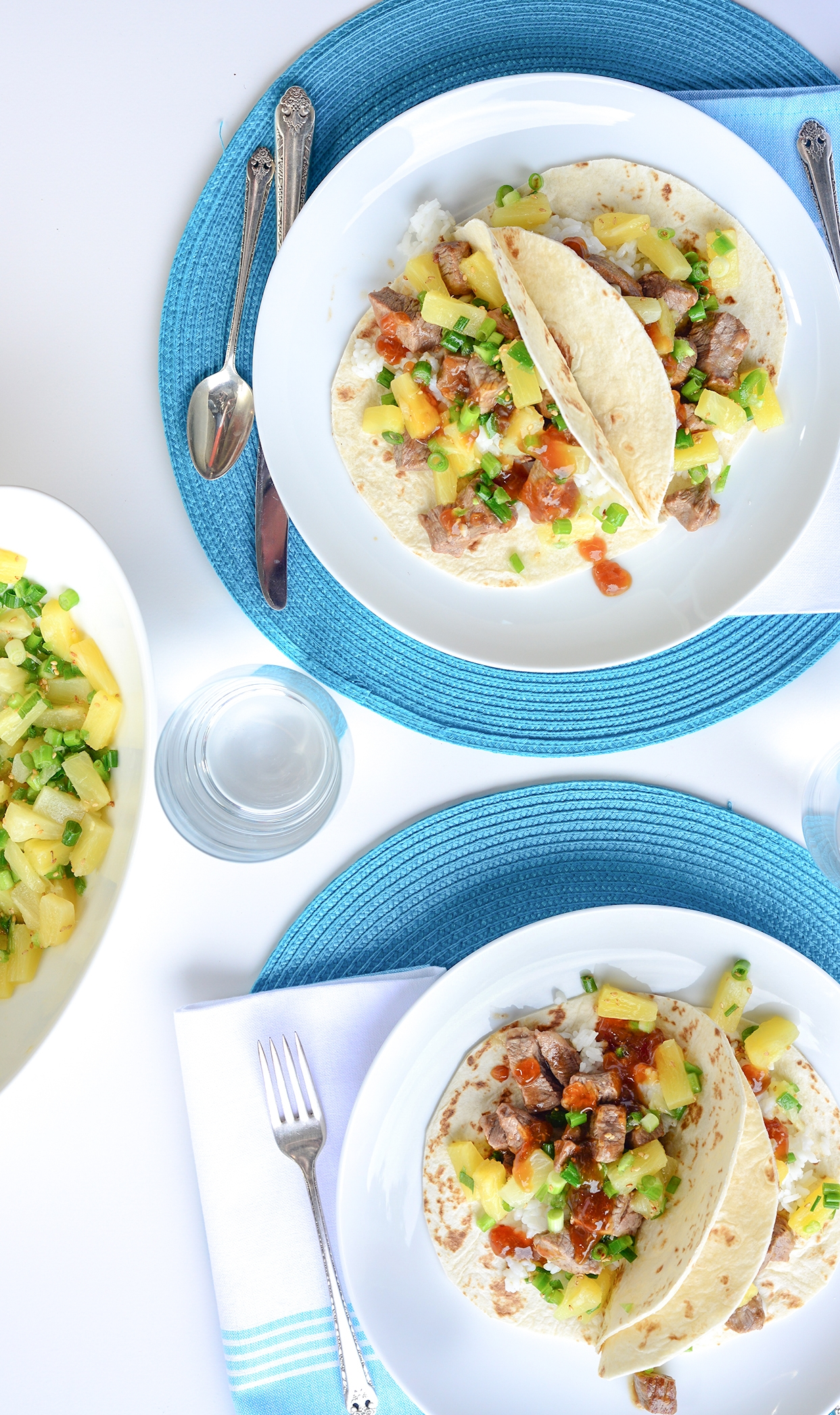 Teriyaki Tacos with Pineapple Salsa