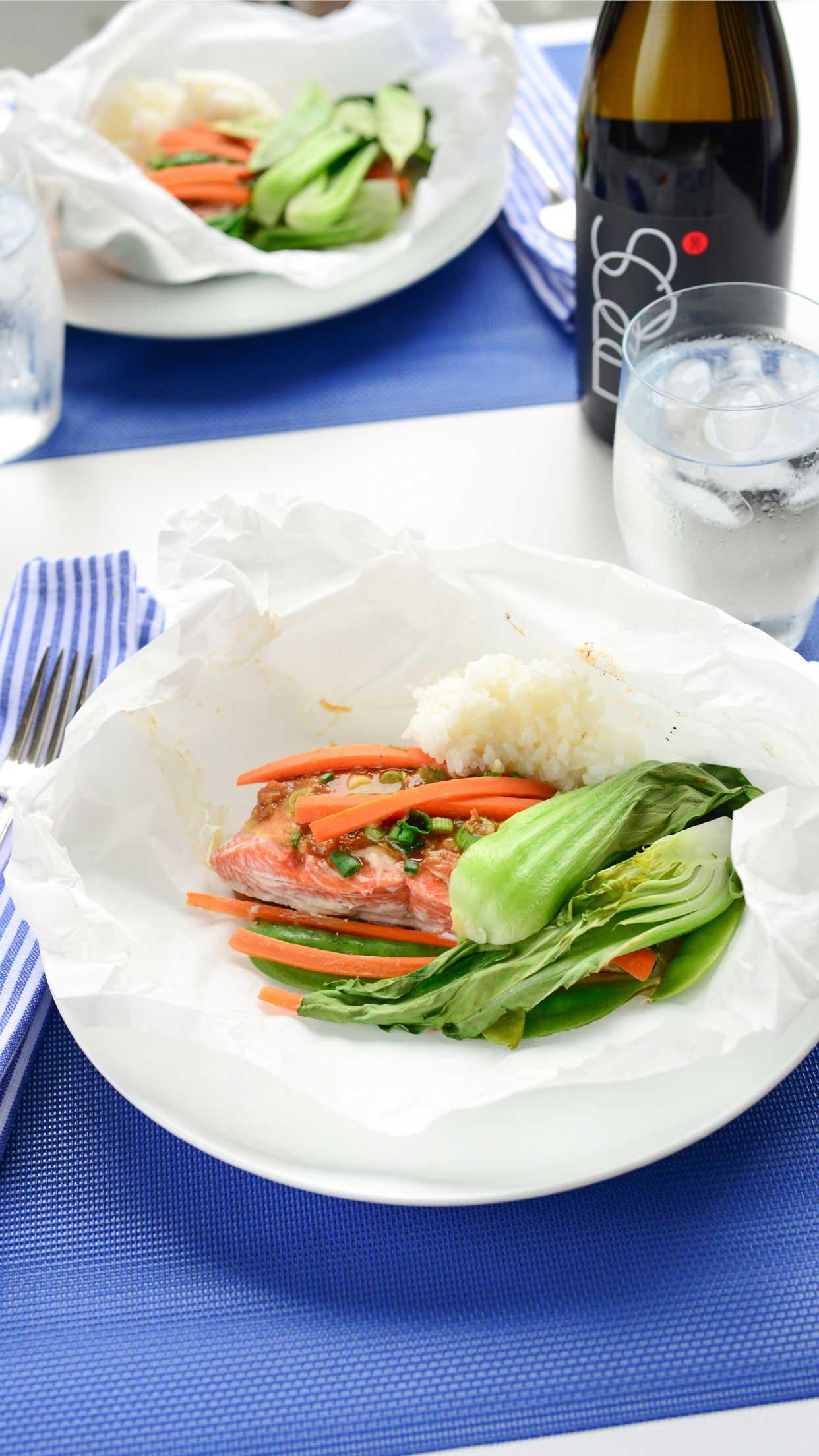 Miso Salmon in Parchment