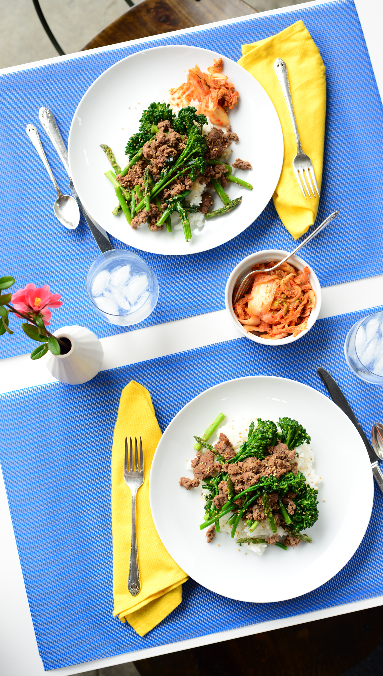 Korean Beef with Sesame Vegetables